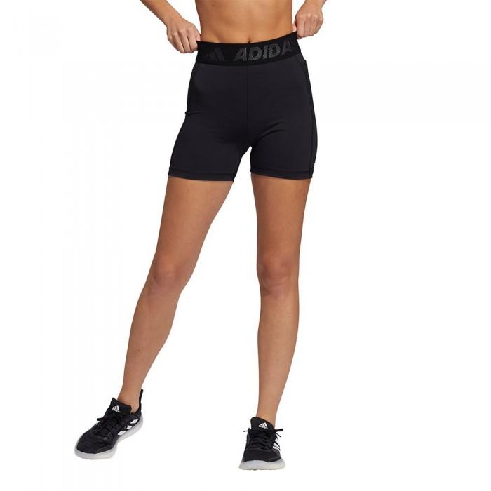 [해외]아디다스 Techfit Badge Of Sports Short Tight 7137925898 Black / White