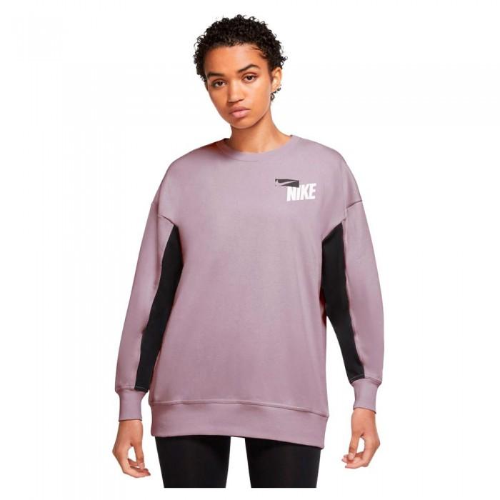 [해외]나이키 Dri Fit Get Fit Fleece Graphic Crew 7138029498 Iced Lilac / Black / White