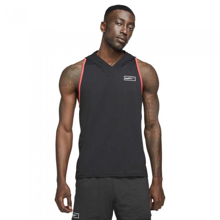 [해외]나이키 Sport Clash Hoodie 7138029230 Black / Lt Fusion Red / White