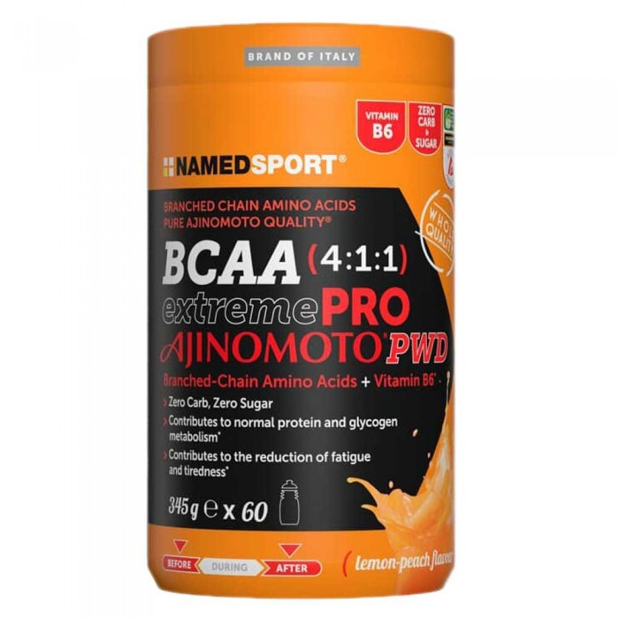 [해외]NAMED SPORT BCAA Extreme Pro Ajinomoto 345gr Lemon 14138027539 Orange / Black