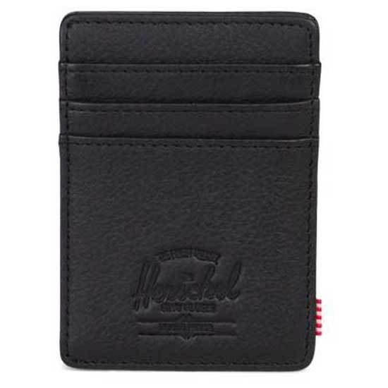 [해외]허쉘 Raven Leather RFID Black Pebbled Leather