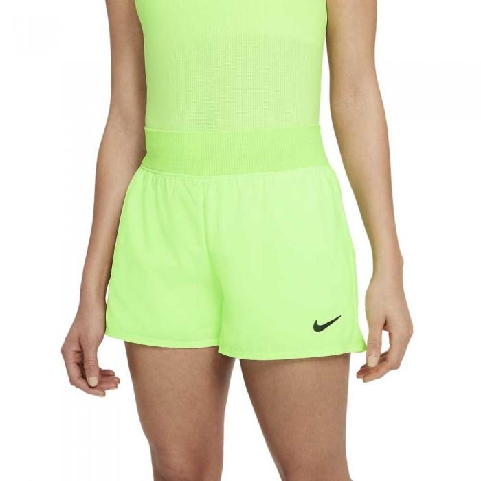 [해외]나이키 Court Dri Fit Victory Short Pants 12138031916 Lime Glow / Black