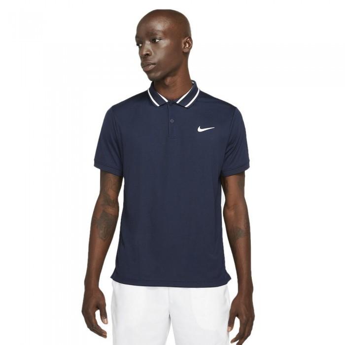[해외]나이키 Court Dri Fit Victory Short Sleeve Polo Shirt 12137982639 Obsidian / White