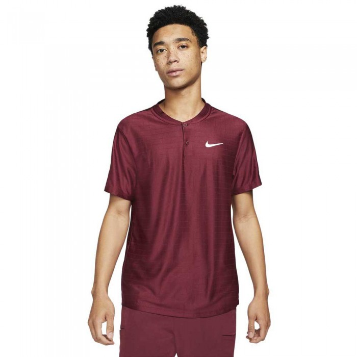 [해외]나이키 Court Dri Fit Advantage Short Sleeve Polo Shirt 12138029977 Dark Beetroot / Dark Beetroot / White