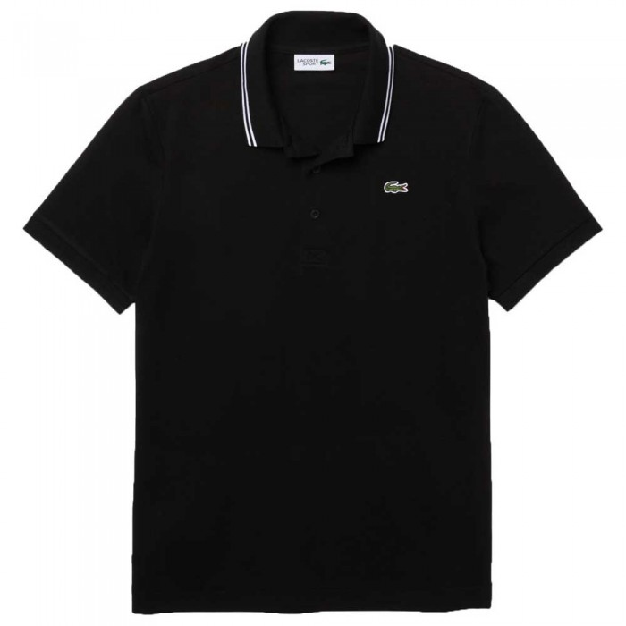[해외]라코스테 Sport Contrast Accent Lightweight Short Sleeve Polo Shirt 12138094433 Black / White
