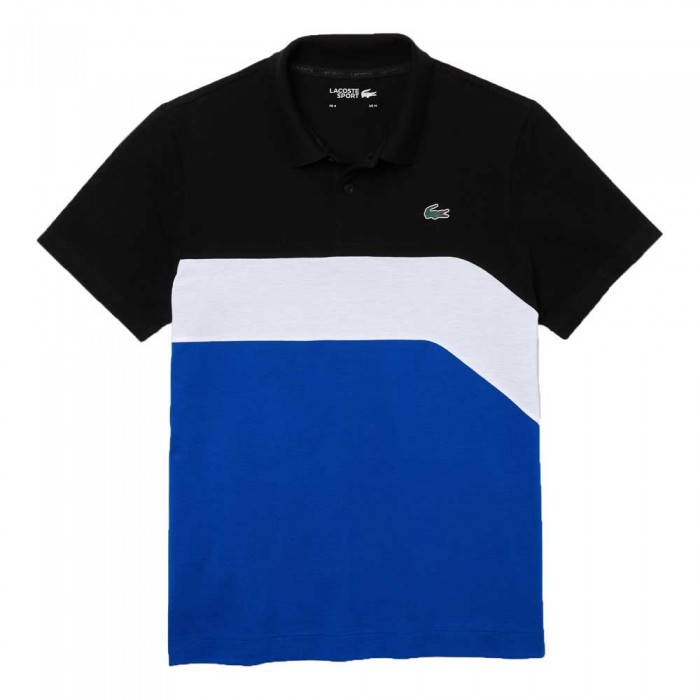[해외]라코스테 YH9643 Short Sleeve Polo Shirt 12138094435 Black / White / Lazuli