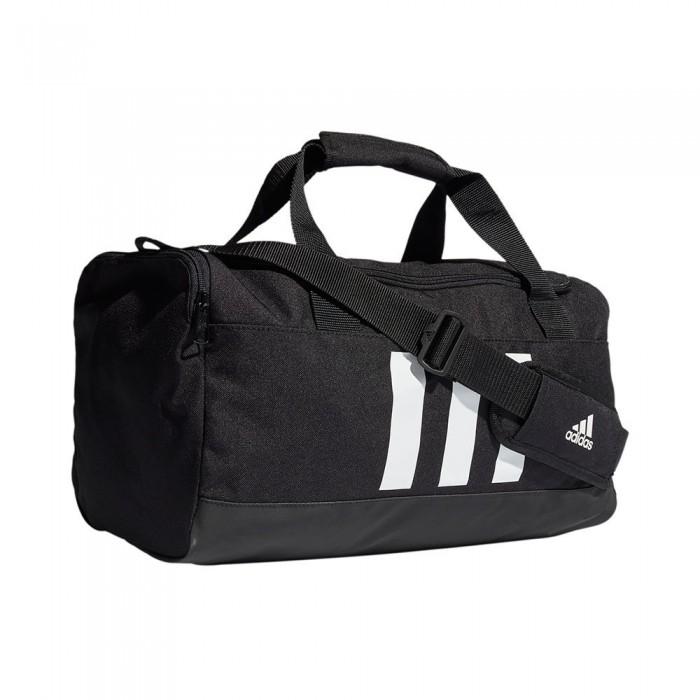 [해외]아디다스 Essentials 3-Stripes Duffel 25L 7137894480 Black / White
