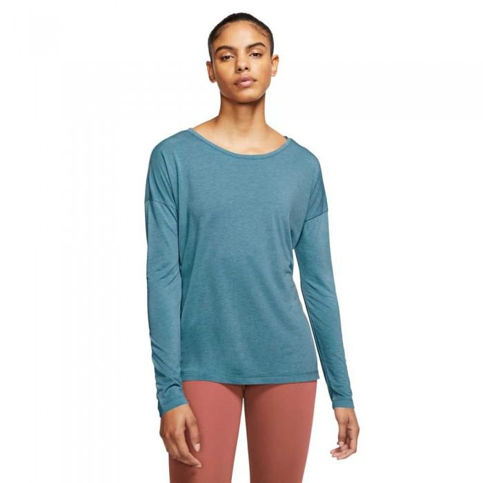[해외]나이키 Dri FiYoga Long Sleeve T-Shirt 7138031912 Cerulean / Htr / Glacier Blue / Lt Armory Blue