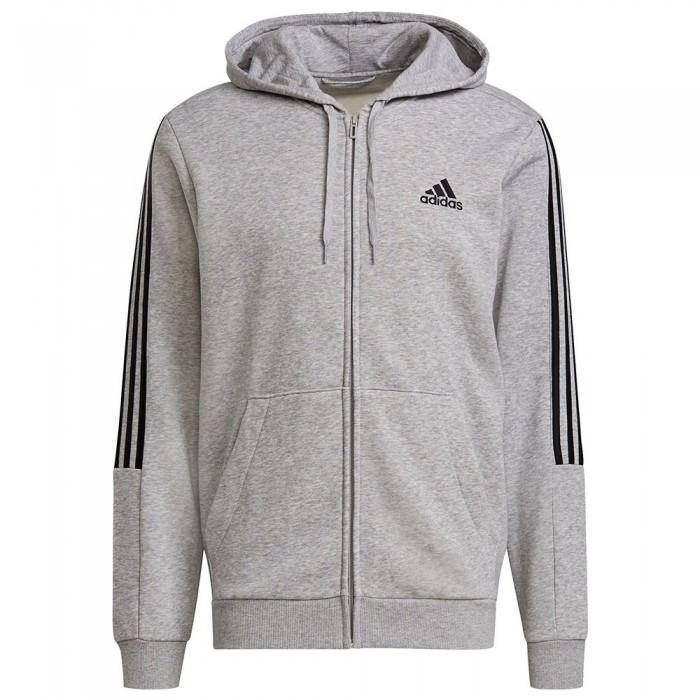 [해외]아디다스 Essentials Fleece Cut 3 Stripes 7137913419 Medium Grey Heather / Black