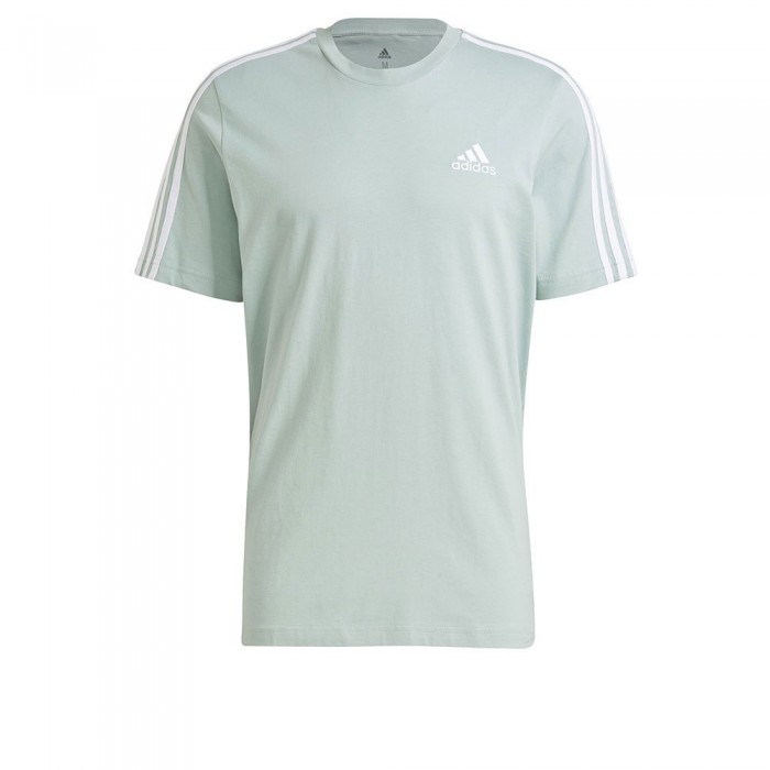 [해외]아디다스 Essentials 3-Stripes Short Sleeve T-Shirt 7137927174 Hazy Green