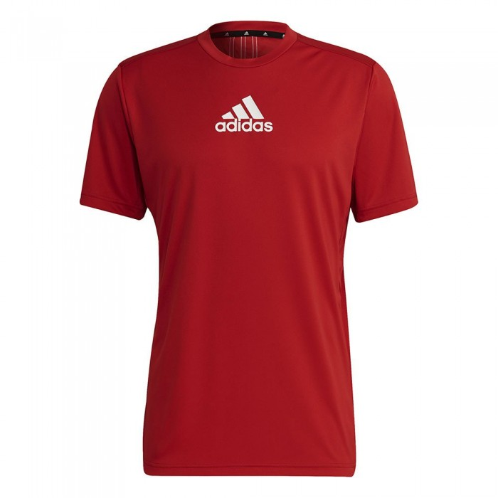 [해외]아디다스 Primeblue Designed To Move Sport 3-Stripes Short Sleeve T-Shirt 7137927230 Scarlet / White