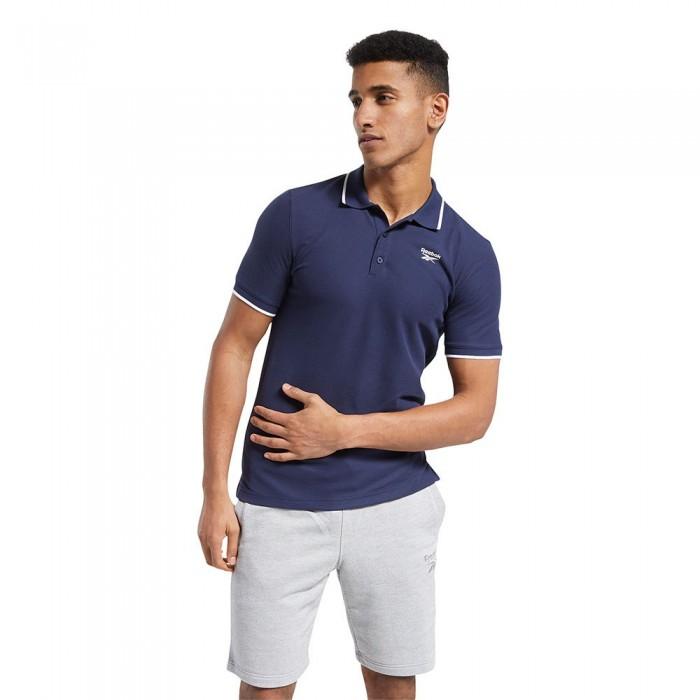 [해외]리복 Identity Piqu? Short Sleeve Polo Shirt 7137938896 Vector Navy