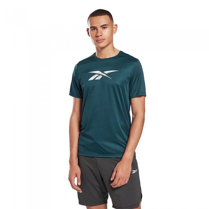 [해외]리복 Workout Ready Speedwick Reecycled Graphic Short Sleeve T-Shirt 7137939492 Forest Green