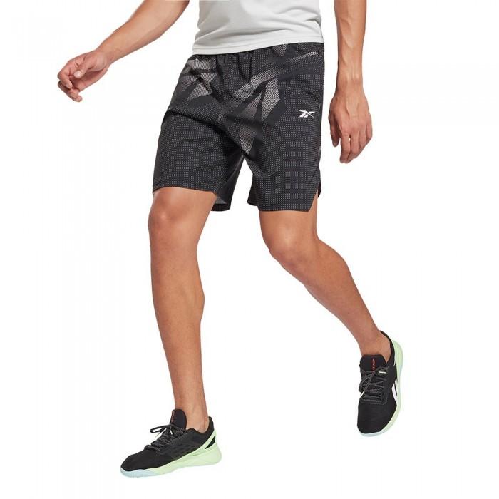 [해외]리복 Workout Ready Speedwick All Oversize Printed Short Pants 7137939647 Black