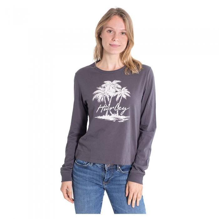 [해외]헐리 Scriptor Palms Perfect Long Sleeve T-Shirt 14137965713 Grey