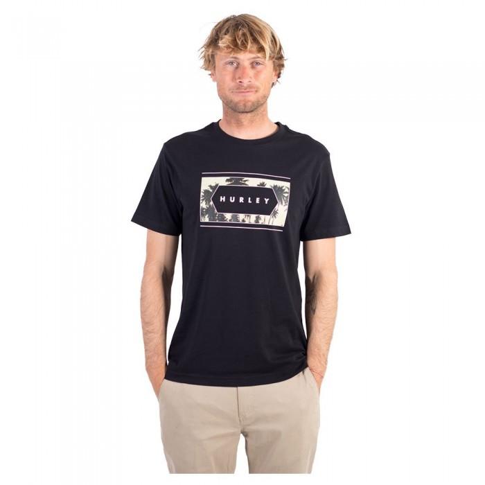 [해외]헐리 White Palm Short Sleeve T-Shirt 14137966198 Black