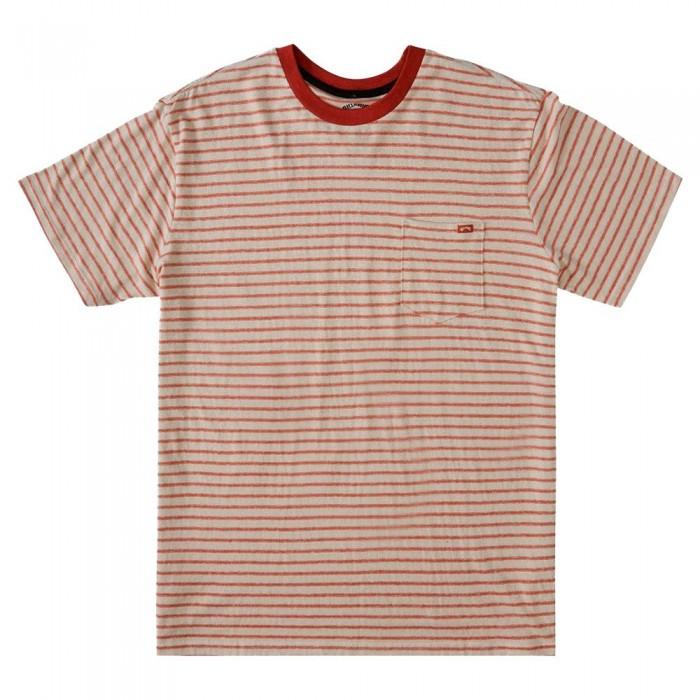 [해외]빌라봉 Eldorado Hemp Stripe Short Sleeve T-Shirt 14138040926 Auburn