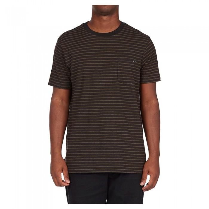 [해외]빌라봉 Eldorado Hemp Stripe Short Sleeve T-Shirt 14138040927 Black