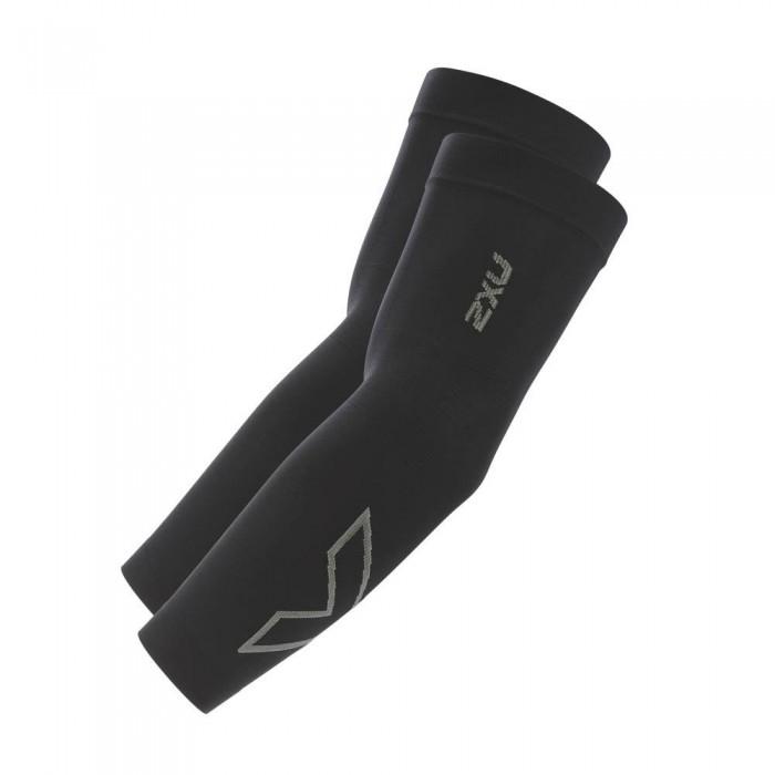 [해외]2XU Flex Run Arm Sleeves 12136635400 Black / Grey