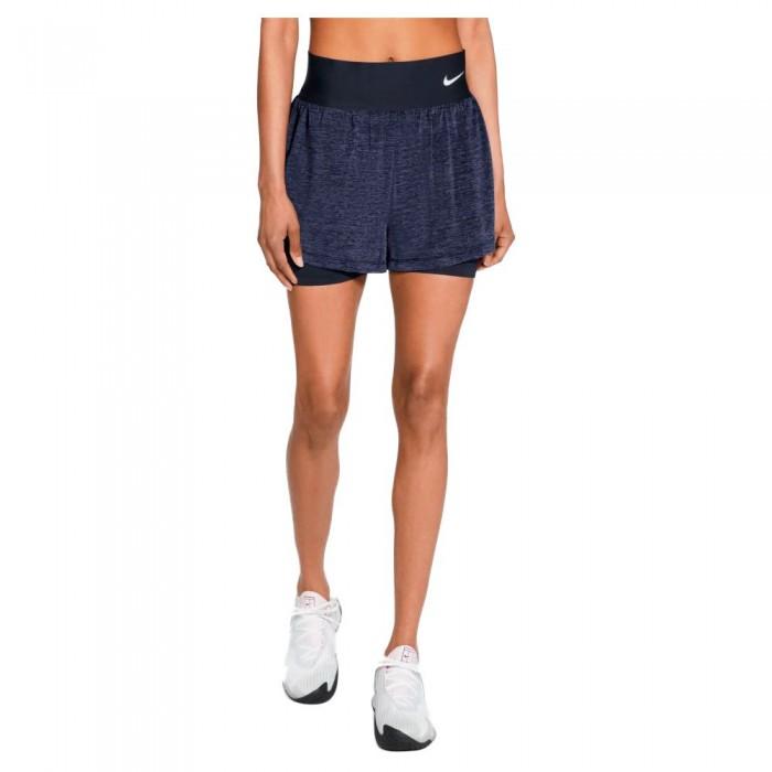 [해외]나이키 Court Advantage Short Pants 12138029313 Obsidian / Obsidian / Elemental Pink / White