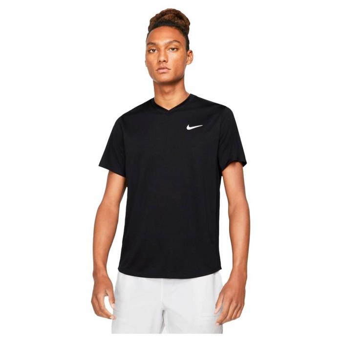 [해외]나이키 Court Dri Fit Victory Short Sleeve T-Shirt 12137983602 Black / Black / White