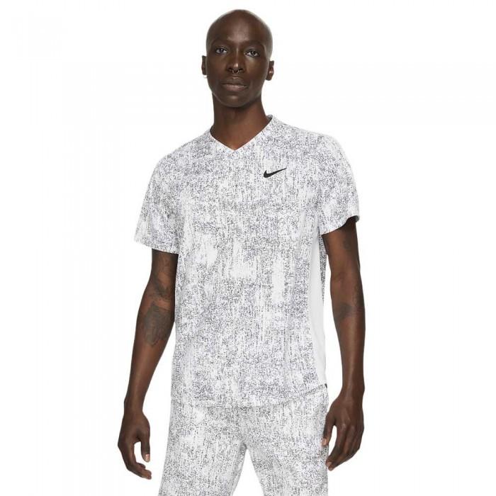 [해외]나이키 Court Dri Fit Victory Printed Short Sleeve T-Shirt 12138030715 White / White / Black