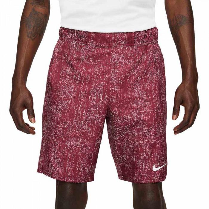 [해외]나이키 Court Flex Victory Printed Short Pants 12138030776 Dark Beetroot / White