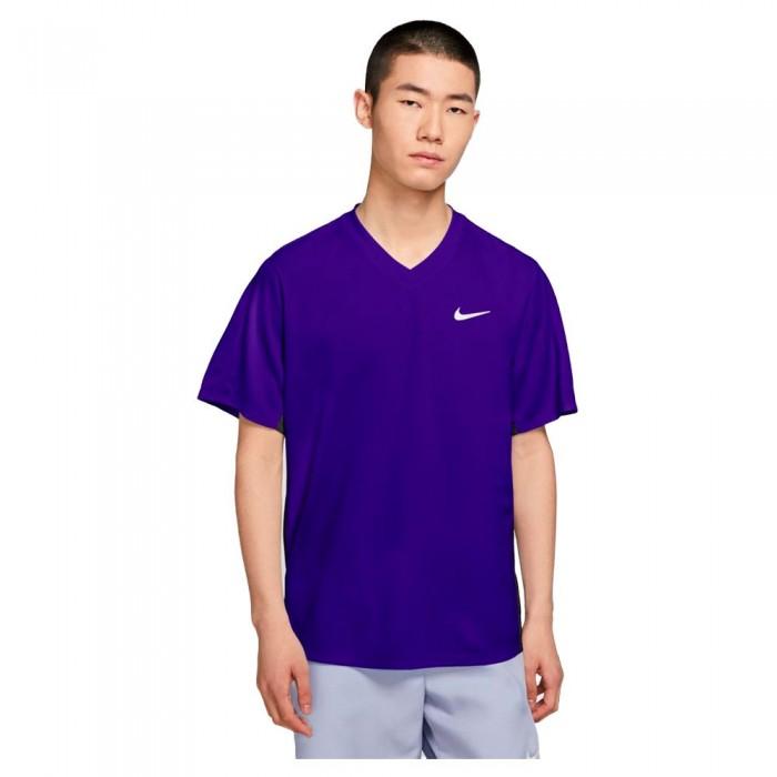 [해외]나이키 Court Dri Fit Victory Short Sleeve T-Shirt 12138031268 Concord / Black / White