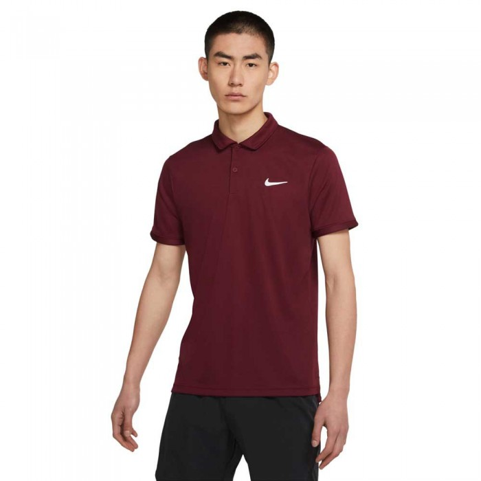 [해외]나이키 Court Dri Fit Victory Short Sleeve Polo Shirt 12138031892 Dark Beetroot / Dark Beetroot / White
