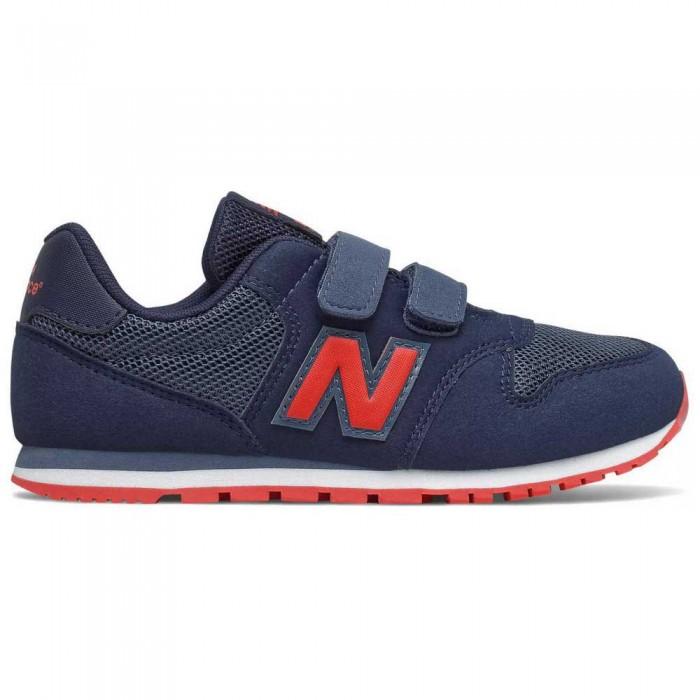 [해외]뉴발란스 500 Junior Wide Trainers 15137929566 Navy / Red