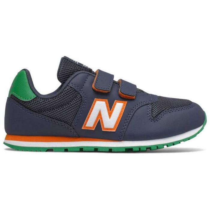 [해외]뉴발란스 500 Junior Wide Trainers 15137929570 Navy