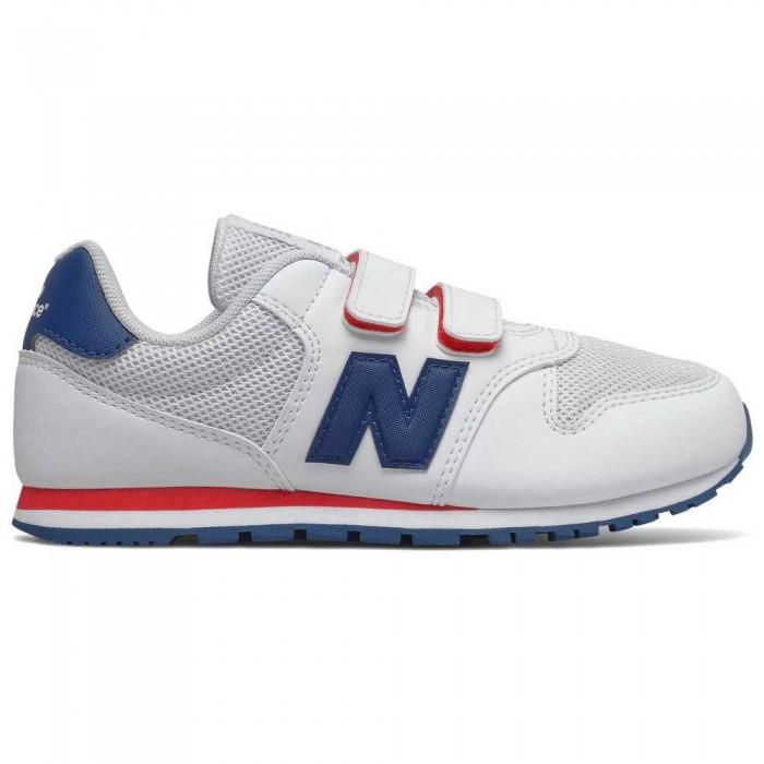 [해외]뉴발란스 500 Junior Wide Trainers 15137929572 White / Red