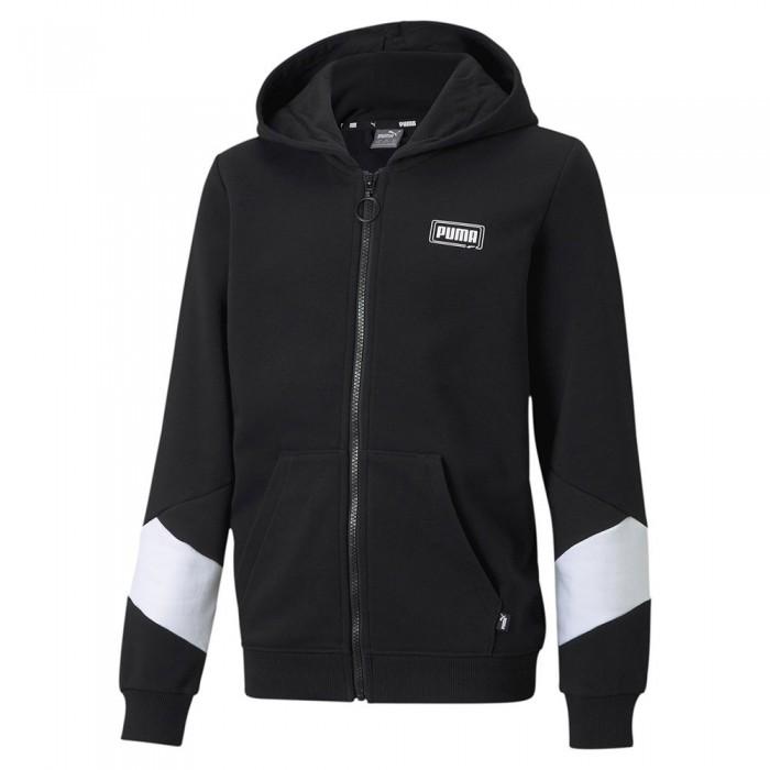 [해외]푸마 Rebel Full Zip Sweatshirt 15137920828 Puma Black