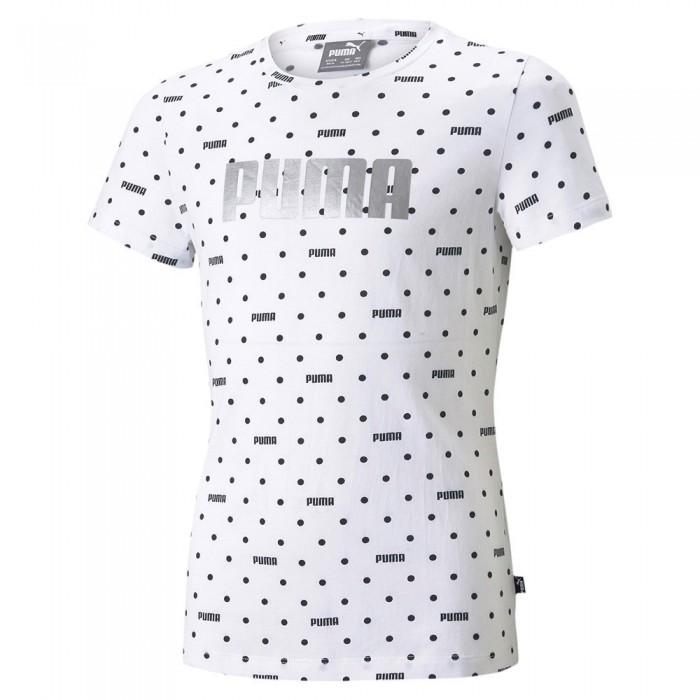 [해외]푸마 Graphic All Over Print Short Sleeve T-Shirt 15137920912 Puma White