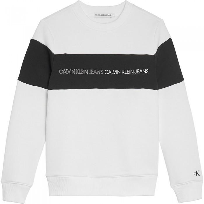 [해외]캘빈클라인 JEANS Colorblock Logo Sweatshirt 15137937214 Bright White