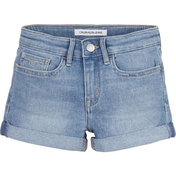 [해외]캘빈클라인 JEANS Slim MR Shorts 15137937220 Essential Light Blue Stretch
