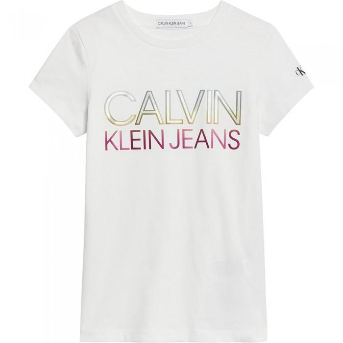 [해외]캘빈클라인 JEANS Gradient Logo Short Sleeve T-Shirt 15137937226 Bright White