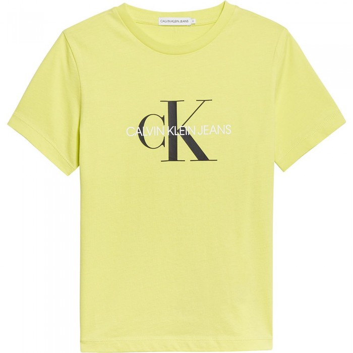 [해외]캘빈클라인 JEANS Monogram Logo Short Sleeve T-Shirt 15137937233 Yellow Lime