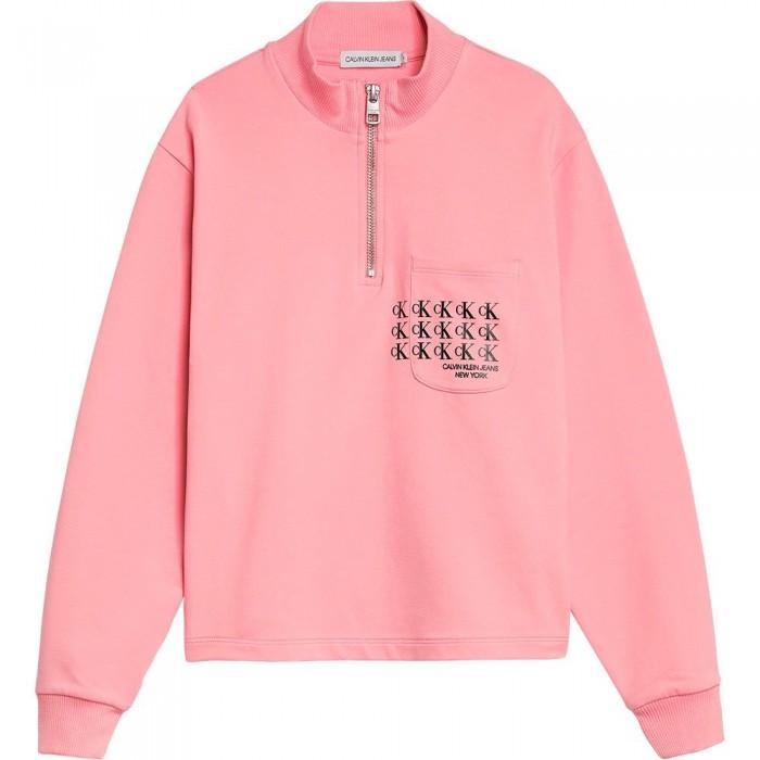 [해외]캘빈클라인 Mini Monogram Sweatshirt 15138049885 Soft Berry