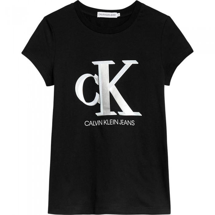 [해외]캘빈클라인 Contrast Monogram Slim Short Sleeve T-Shirt 15138049888 Ck Black