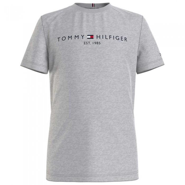 [해외]타미힐피거 KIDS Essential Logo Short Sleeve T-Shirt 15138054567 Light Grey Heather