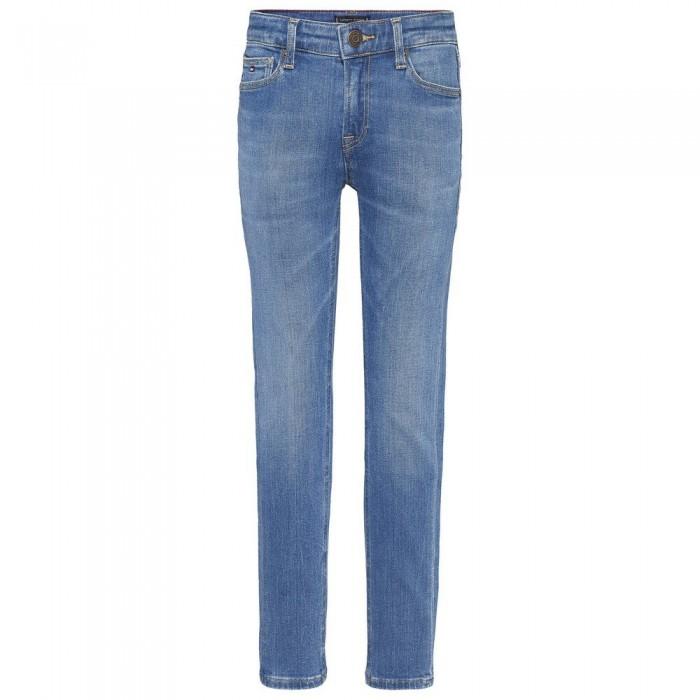 [해외]타미힐피거 KIDS Simon Skinny Faded Jeans 15138054578 Summermedbluestretch