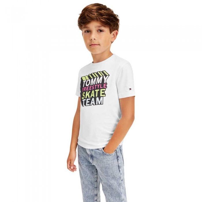 [해외]타미힐피거 KIDS Cool Logo Short Sleeve T-Shirt 15138054631 White