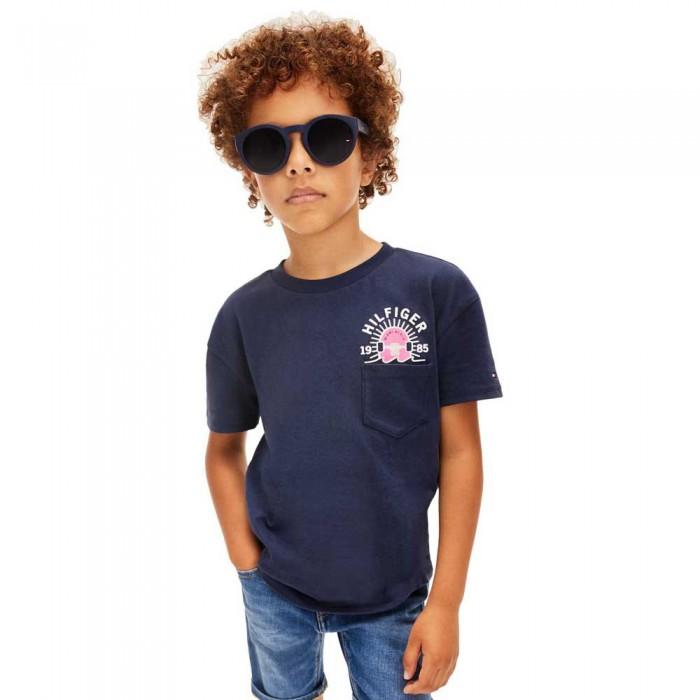 [해외]타미힐피거 KIDS Fun Artwork Pocket Short Sleeve T-Shirt 15138054640 Twilight Navy