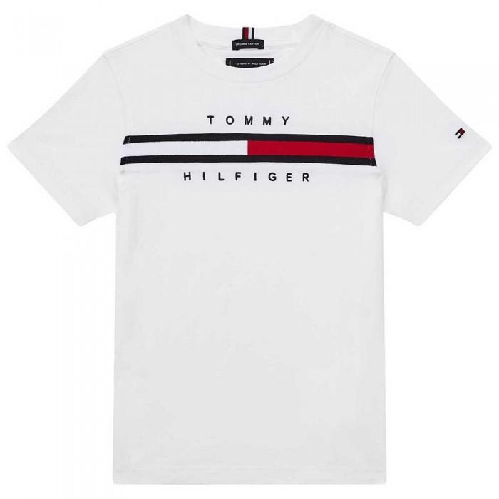 [해외]타미힐피거 KIDS Flag Rib Insert Short Sleeve T-Shirt 15138054648 White