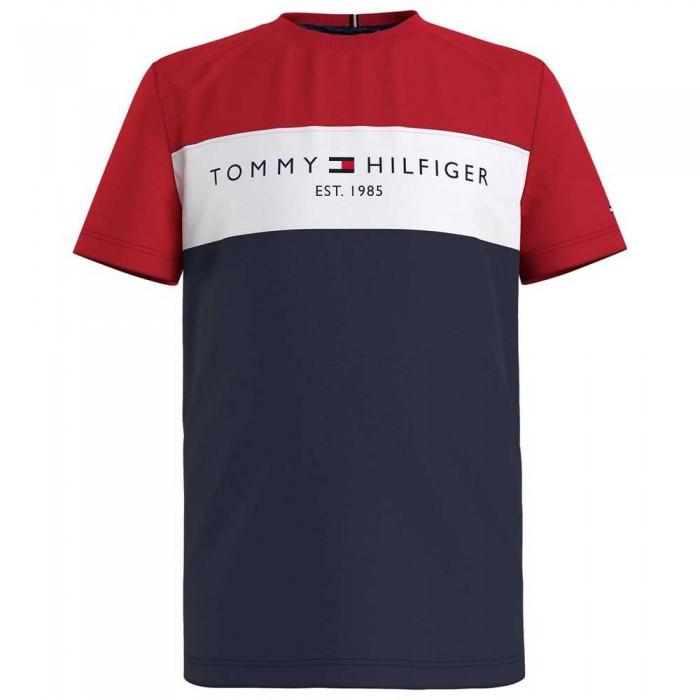 [해외]타미힐피거 KIDS Essential Colorblock Short Sleeve T-Shirt 15138054649 Twilight Navy Colorblock
