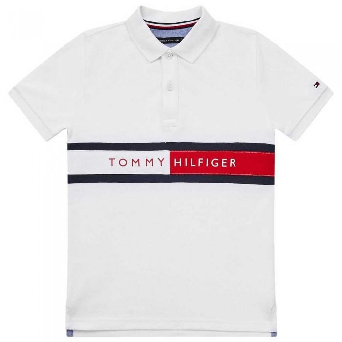 [해외]타미힐피거 KIDS Hilfiger Flag Short Sleeve Polo Shirt 15138054653 White
