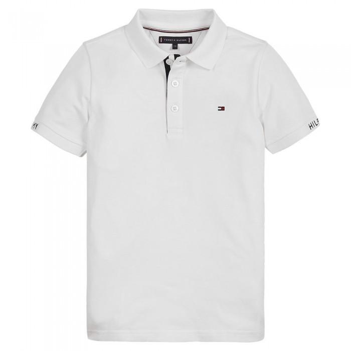 [해외]타미힐피거 KIDS Slim Fit Short Sleeve Polo Shirt 15138054657 White