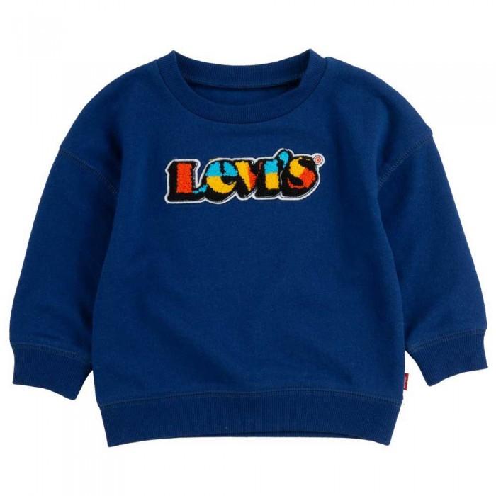 [해외]리바이스 ? KIDS Chenilleneck Sweatshirt 15138005371 Estate Blue