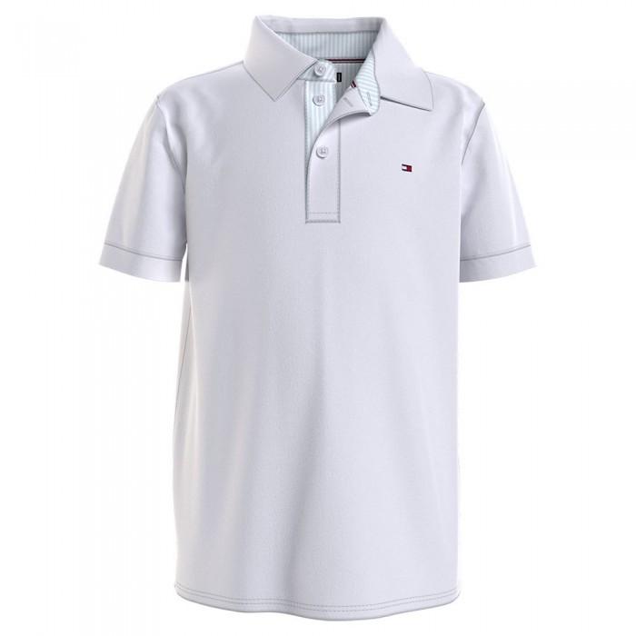 [해외]타미힐피거 KIDS Tommy Ithaca Short Sleeve Polo Shirt 15138054667 White